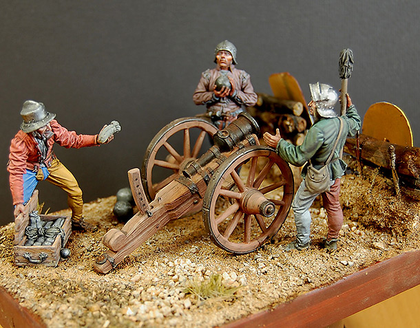 Dioramas and Vignettes: Bombard crew, Europe, XV cent.