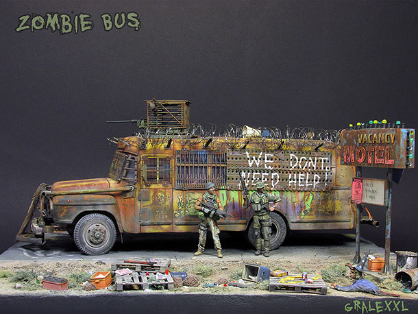 Dioramas and Vignettes: Zombie Bus