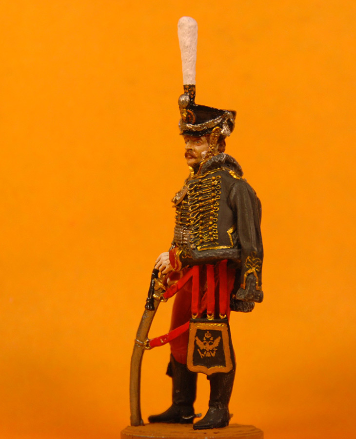 Figures: Senior officer, Irkutsky Hussars, 1813-14, photo #2