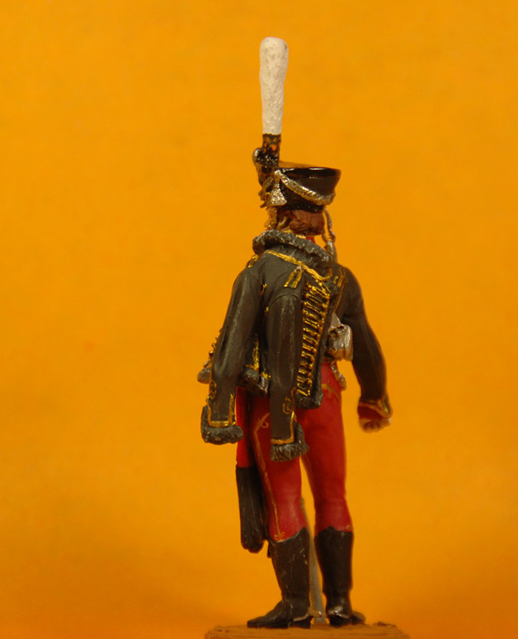 Figures: Senior officer, Irkutsky Hussars, 1813-14, photo #3