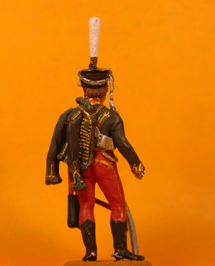Figures: Senior officer, Irkutsky Hussars, 1813-14, photo #4