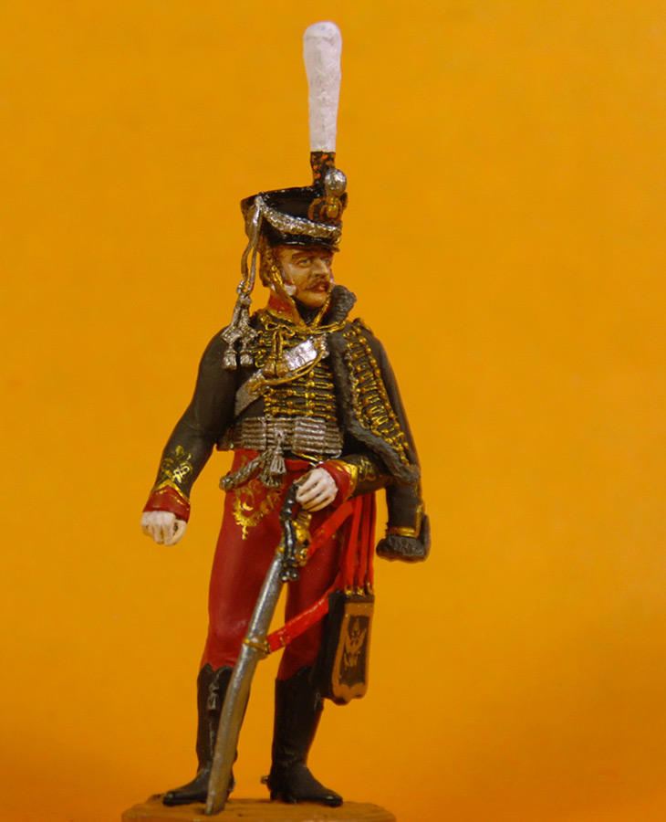 Figures: Senior officer, Irkutsky Hussars, 1813-14, photo #5
