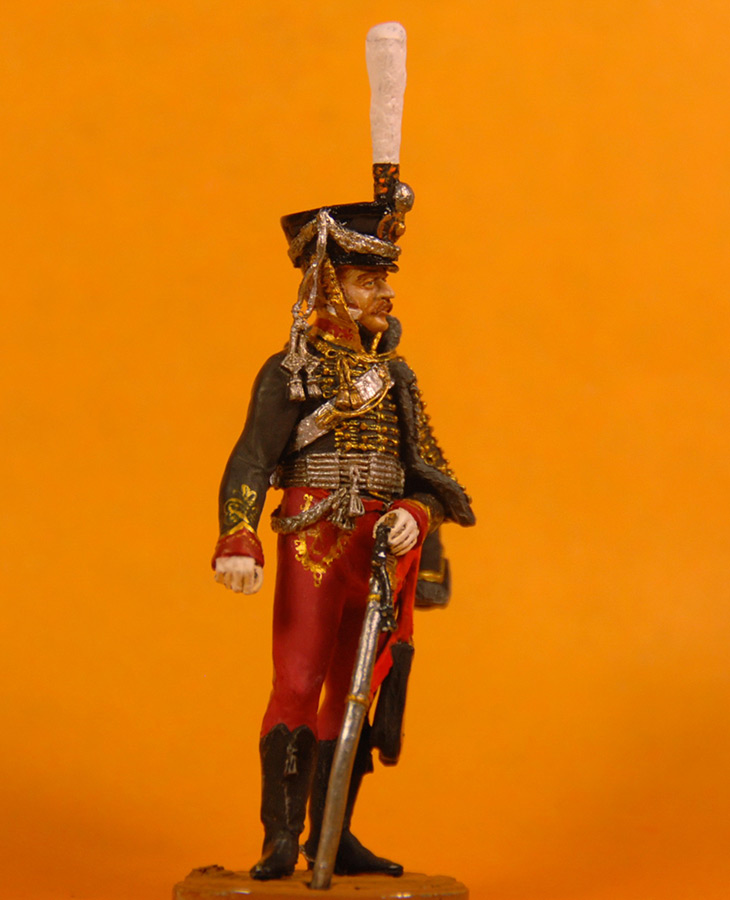 Figures: Senior officer, Irkutsky Hussars, 1813-14, photo #6