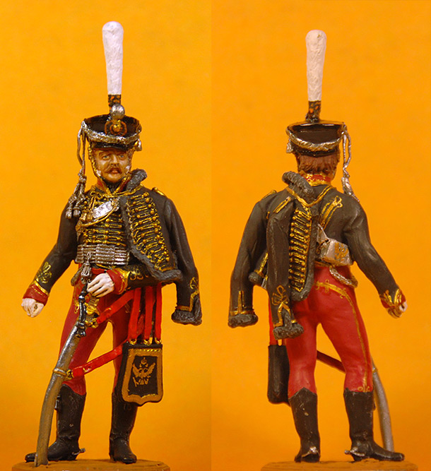 Figures: Senior officer, Irkutsky Hussars, 1813-14