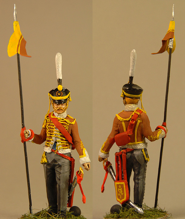 Figures: Akhtyrsky hussar, 1812-13