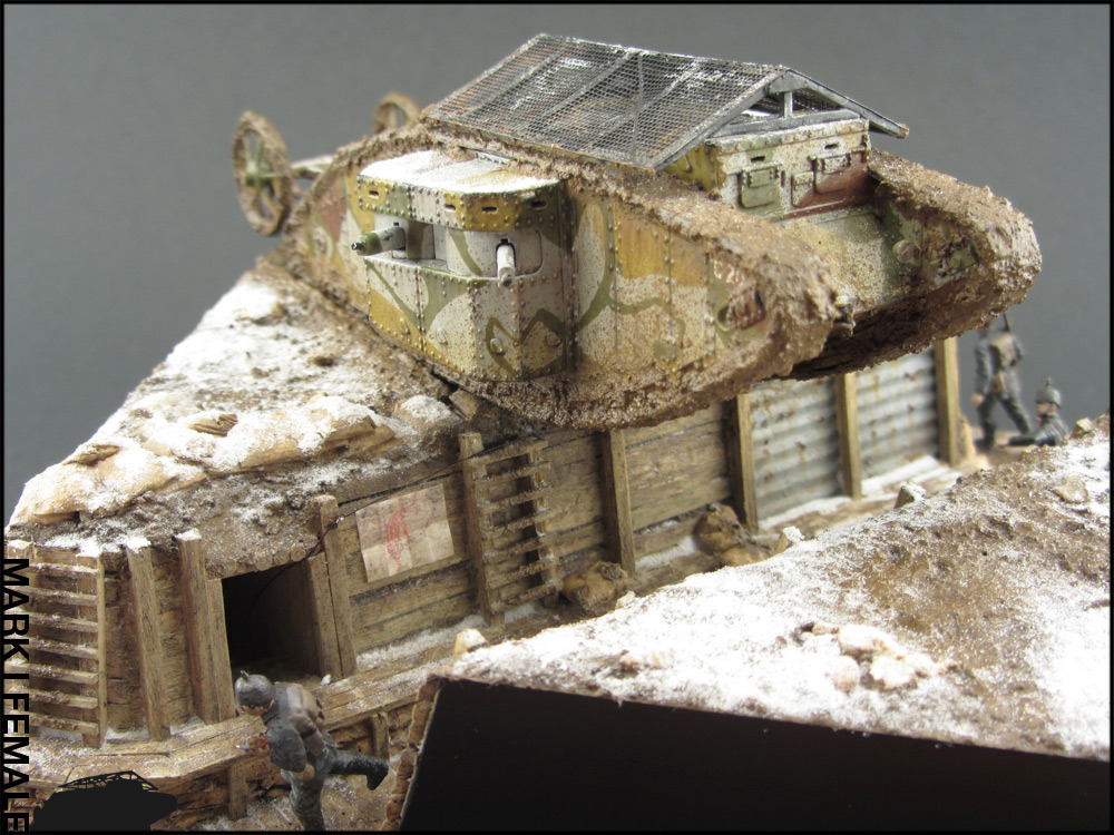 Dioramas and Vignettes: Мark Mk.I Female. Somme offensive, photo #1