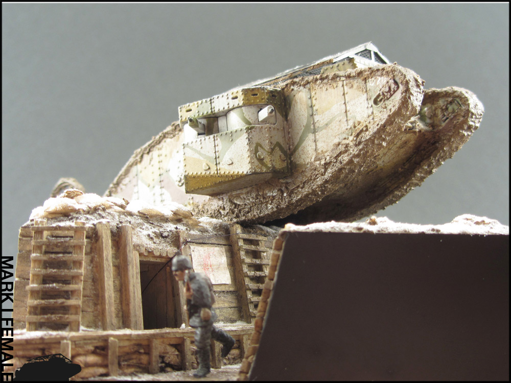 Dioramas and Vignettes: Мark Mk.I Female. Somme offensive, photo #2