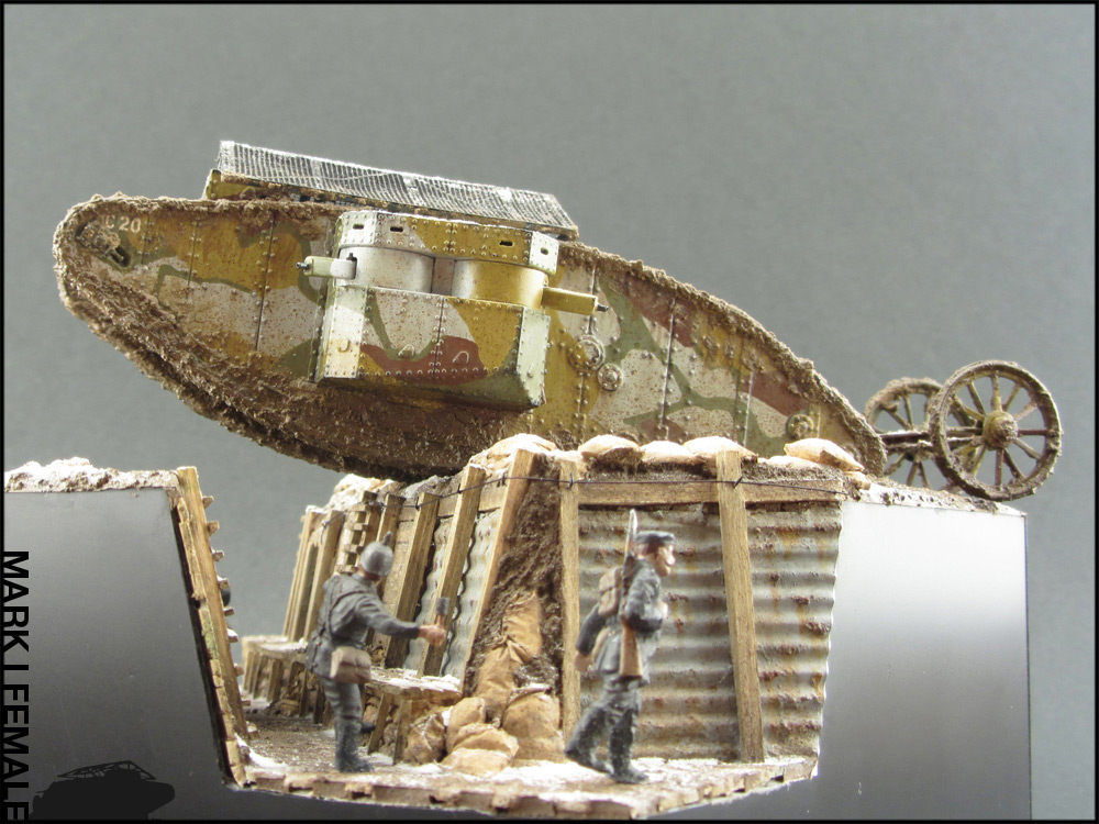Dioramas and Vignettes: Мark Mk.I Female. Somme offensive, photo #3