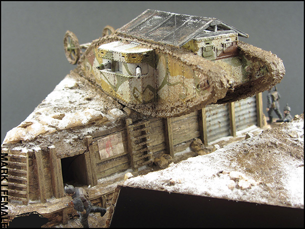 Dioramas and Vignettes: Мark Mk.I Female. Somme offensive