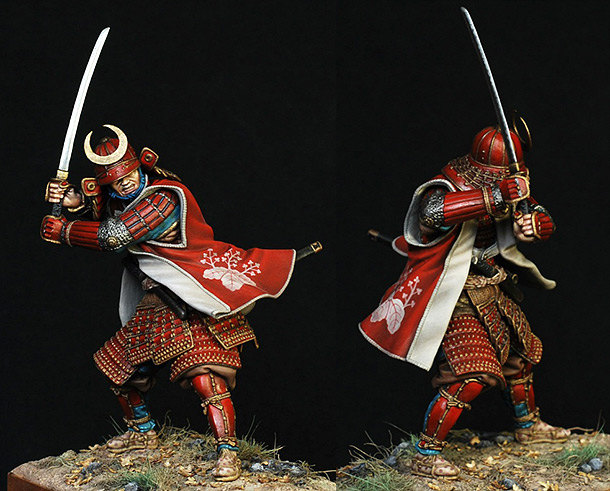 Figures: Samurai in full armor