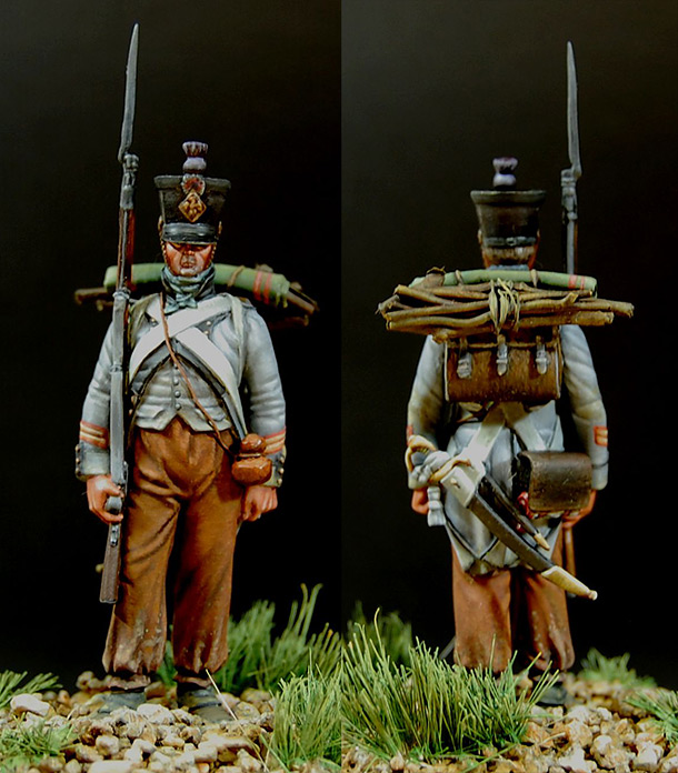 Figures: Sergeant of 15th regt., Spanish campaign, 1808