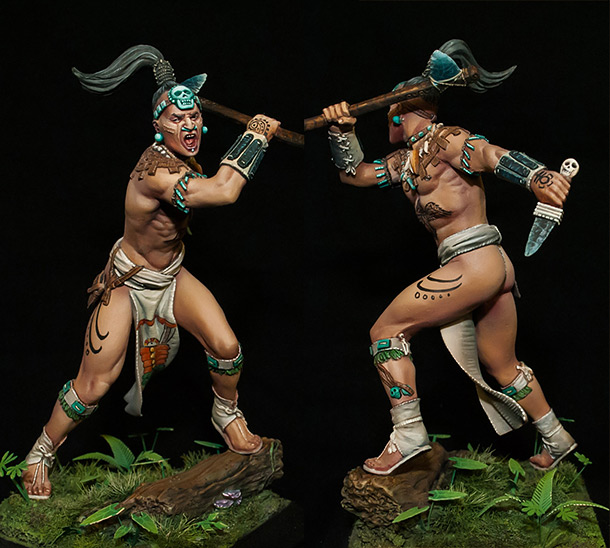 Figures: Maya warrior, 16th century