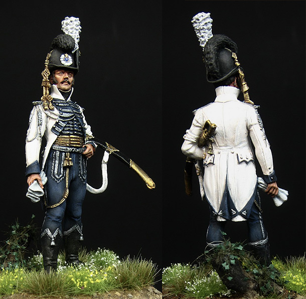 Figures: Officer, mounter Leib Guards, Sweden, 1807