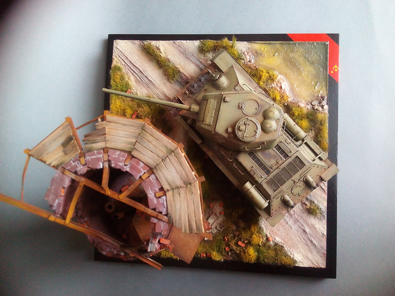 Dioramas and Vignettes: Work horses. T-34/85, photo #2