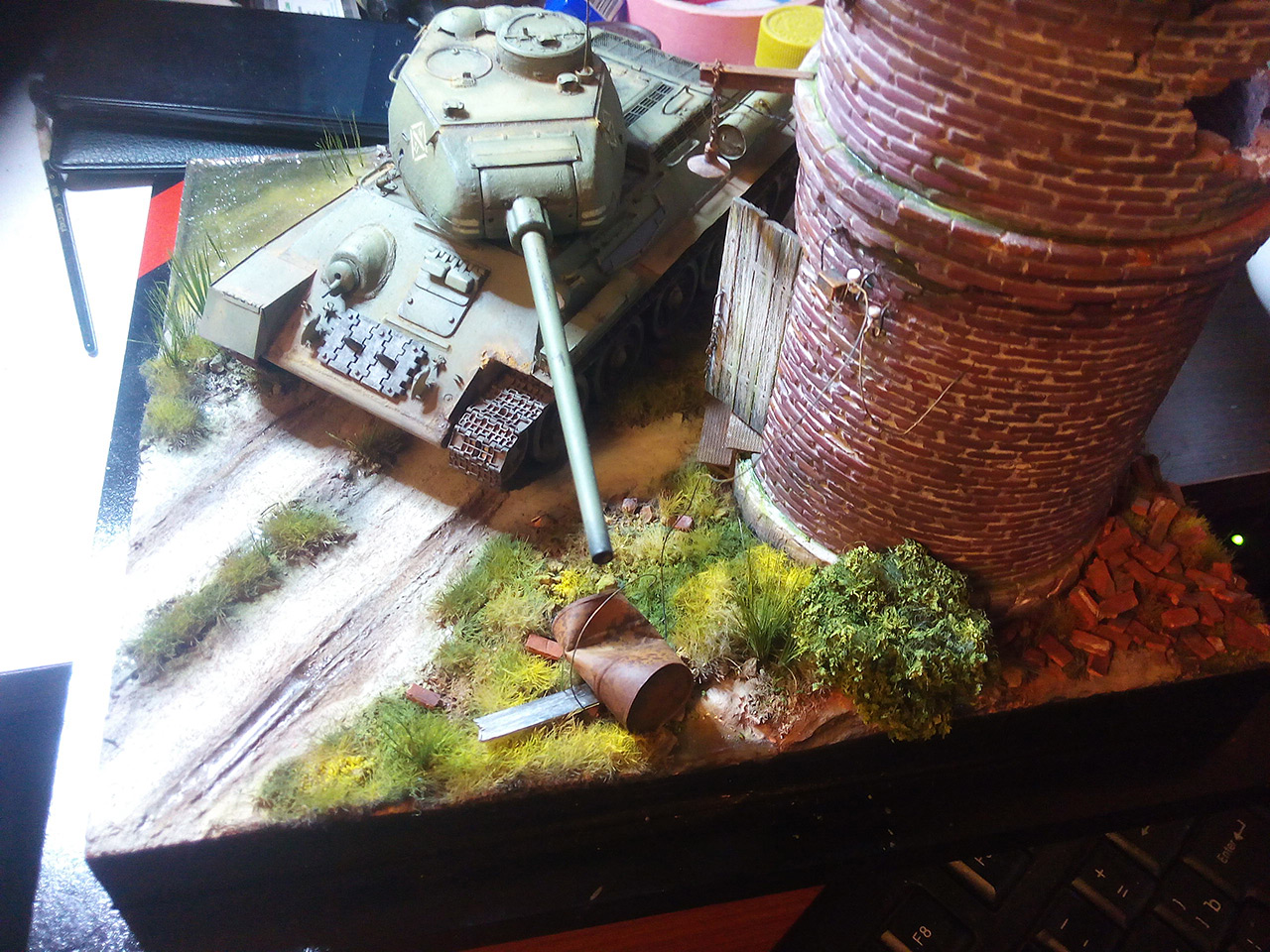 Dioramas and Vignettes: Work horses. T-34/85, photo #5