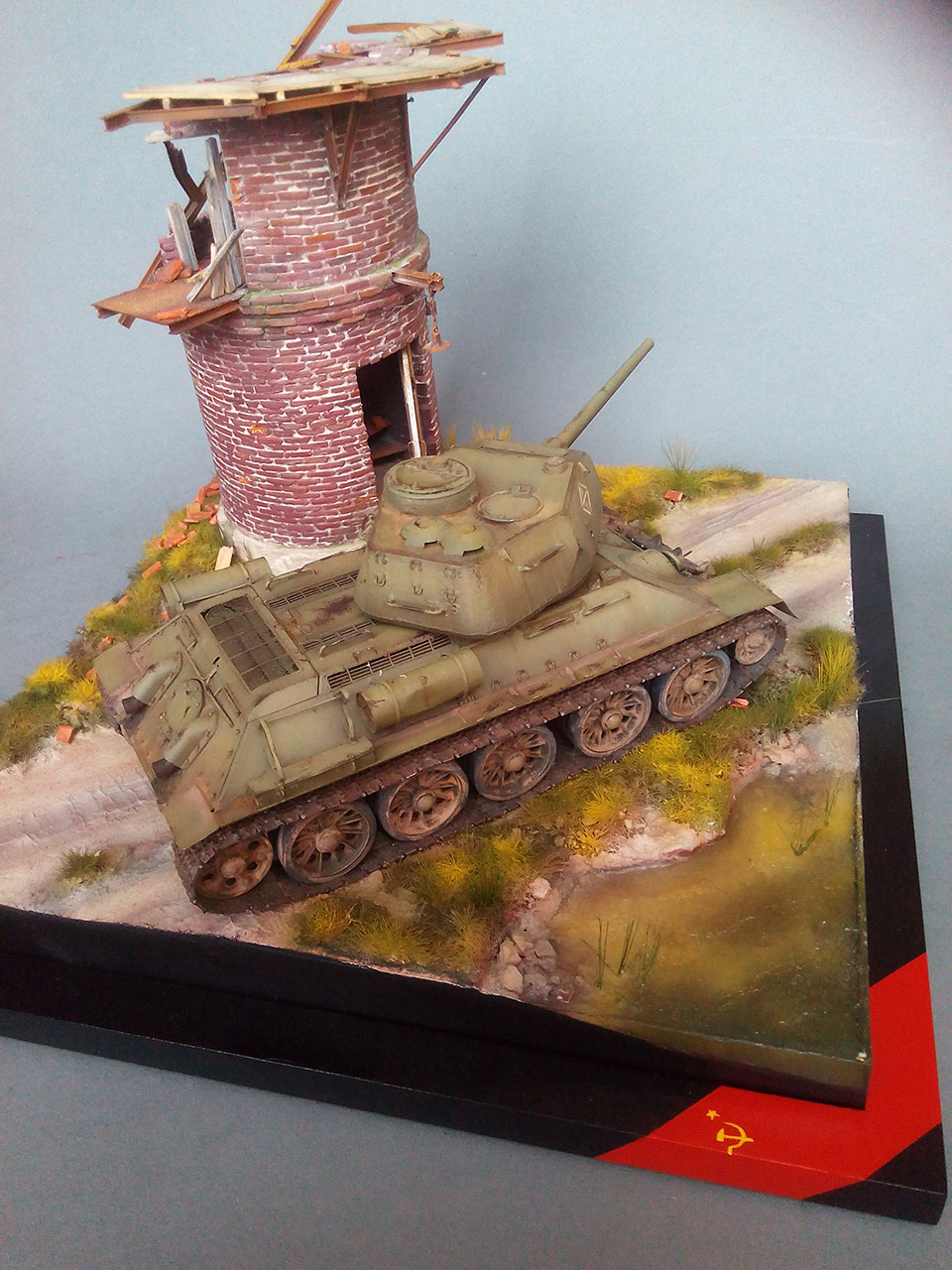 Dioramas and Vignettes: Work horses. T-34/85, photo #6