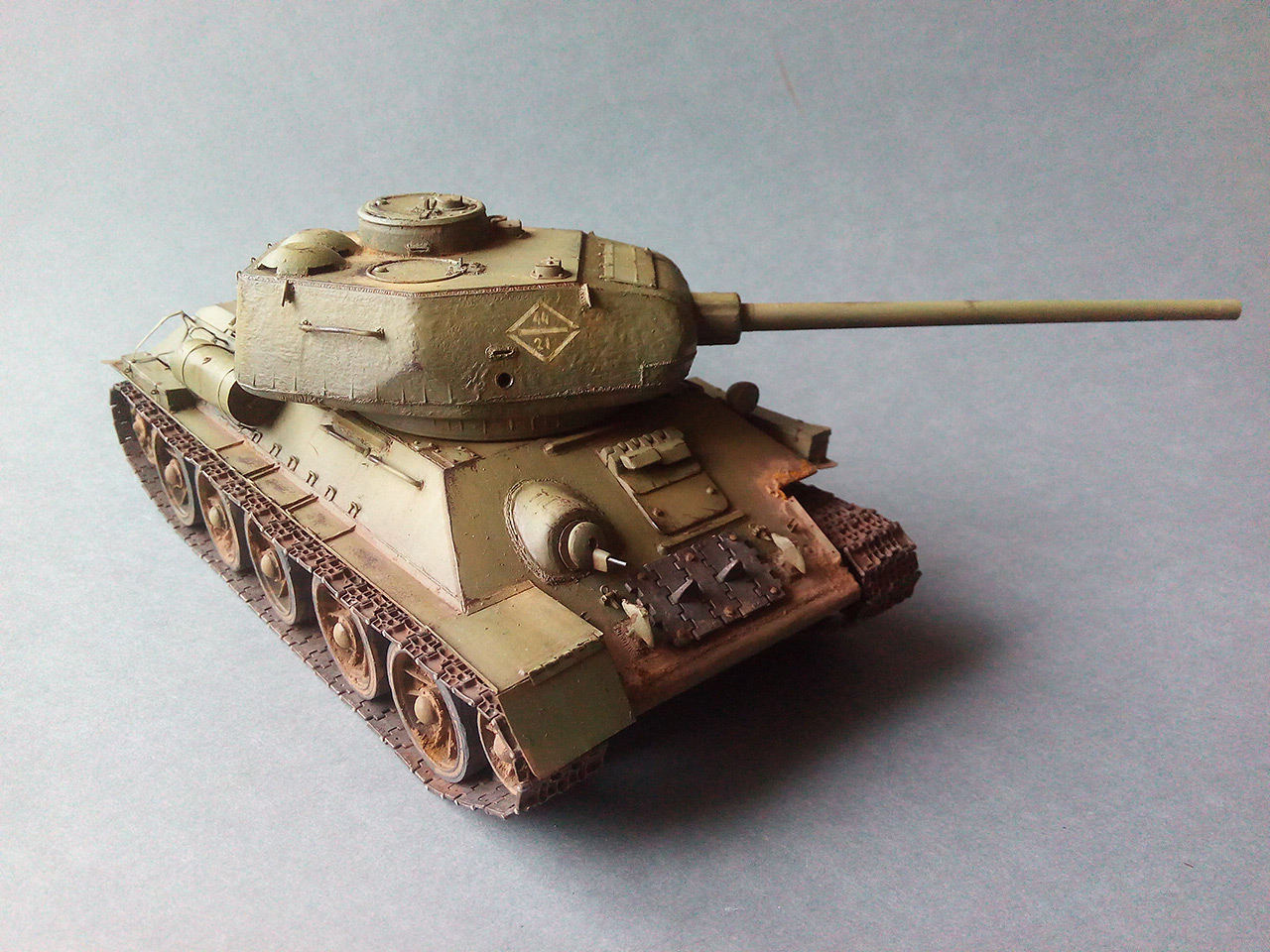 Dioramas and Vignettes: Work horses. T-34/85, photo #8