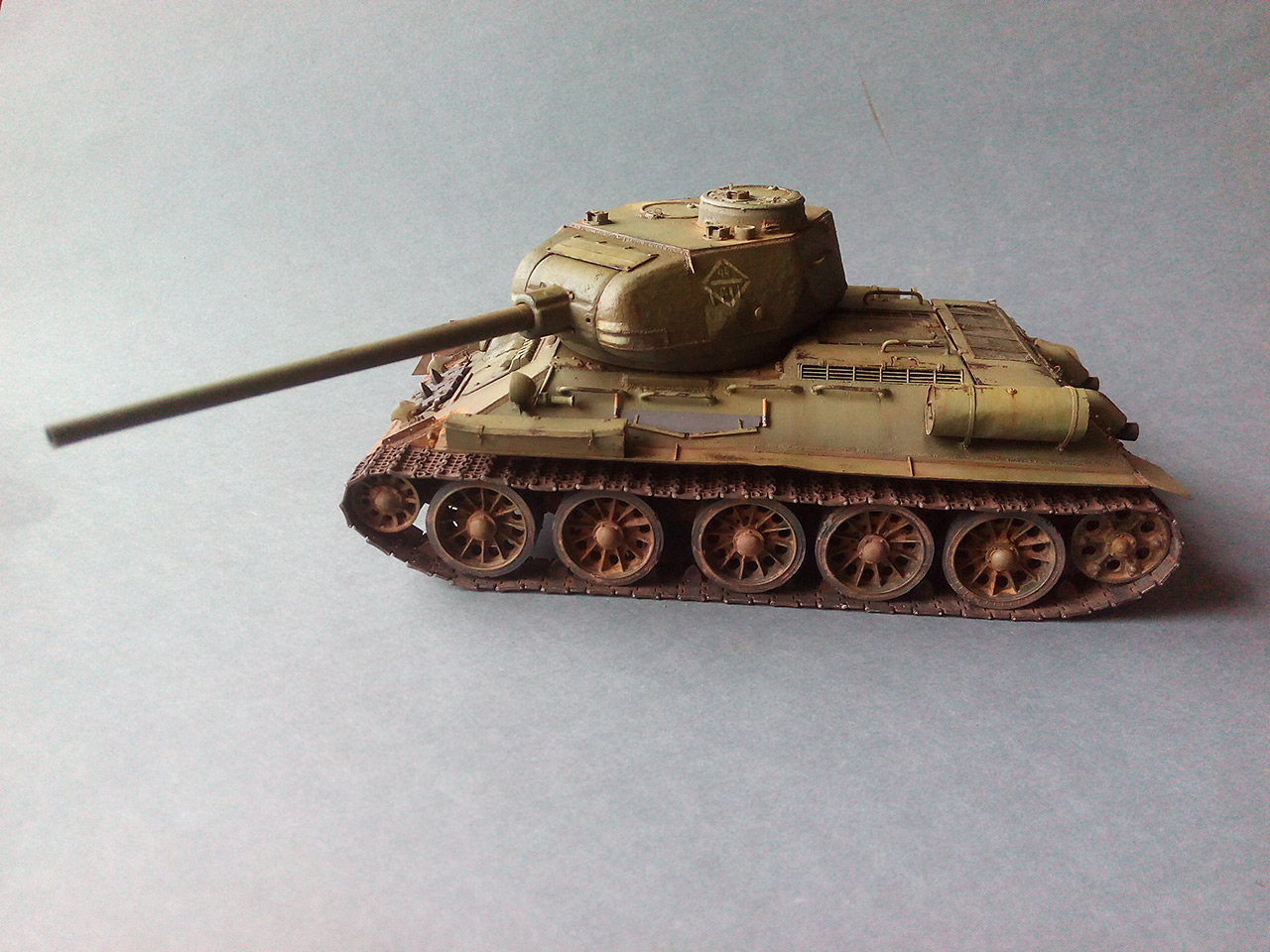 Dioramas and Vignettes: Work horses. T-34/85, photo #9