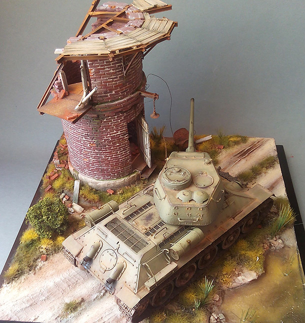 Dioramas and Vignettes: Work horses. T-34/85