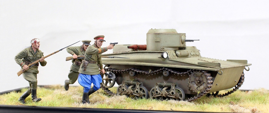 Dioramas and Vignettes: T-37 in attack, photo #1
