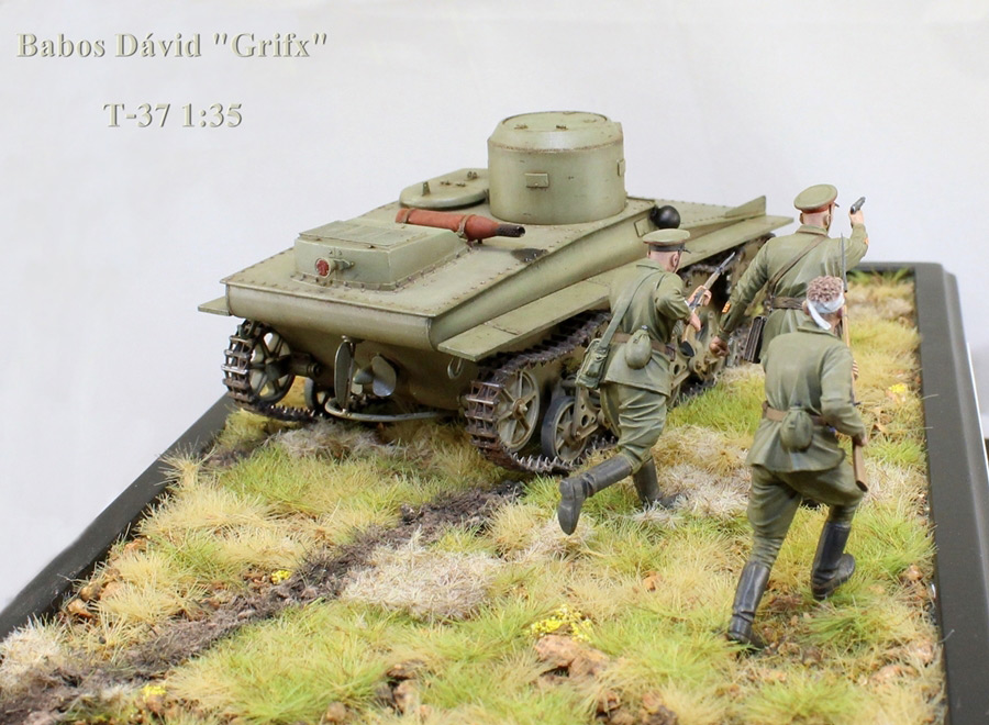 Dioramas and Vignettes: T-37 in attack, photo #2