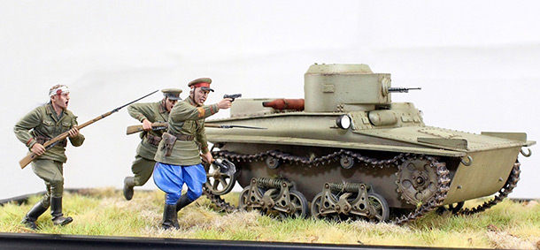 Dioramas and Vignettes: T-37 in attack