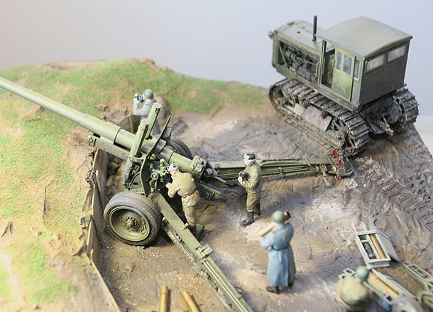 Dioramas and Vignettes: A-19 cannon with crew