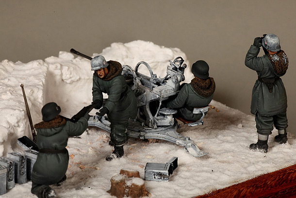 Dioramas and Vignettes: Waffen-SS FlaK-38 crew
