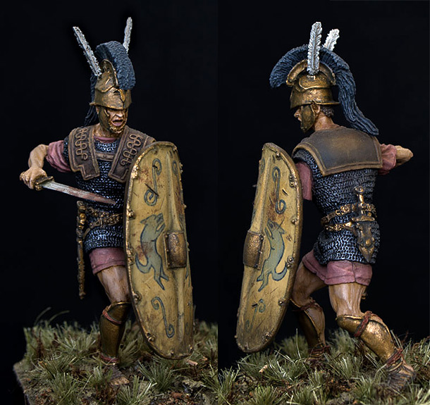 Figures: Roman triarius. 2nd Punic war