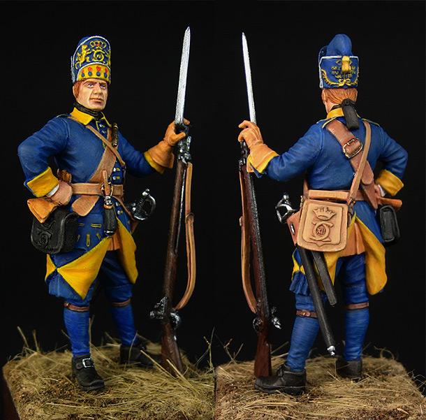 Figures: Swedish grenadier, Mellin regt.