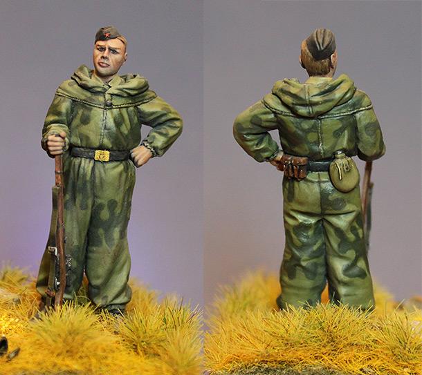 Figures: Soviet marine sniper