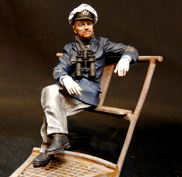 Figures: U-boat captain