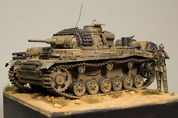 Dioramas and Vignettes: Command tank, D.A.K.
