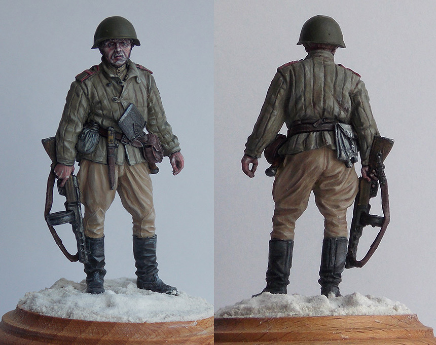 Figures: Senior sergeant, Red Army, 1943-45