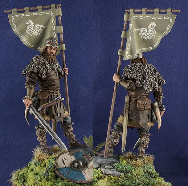 Figures: Viking standard-bearer