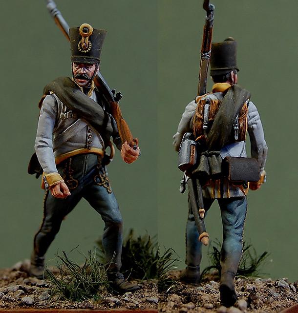 Figures: Fusilier, 2nd Hiller regt. Austria, 1812