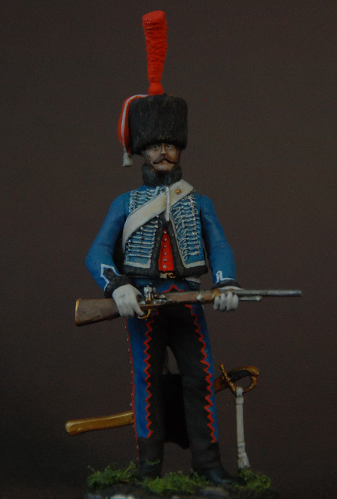 Figures: French hussar, elite coy, 8th regt., 1808, photo #1
