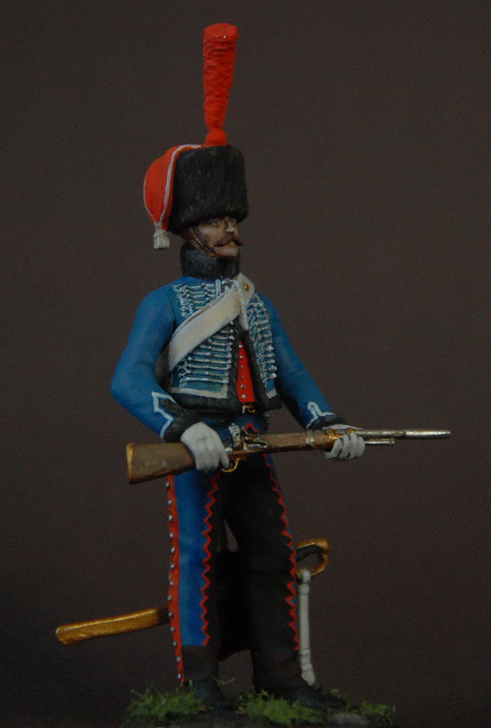 Figures: French hussar, elite coy, 8th regt., 1808, photo #4