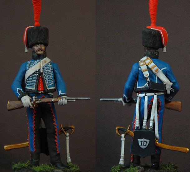 Figures: French hussar, elite coy, 8th regt., 1808