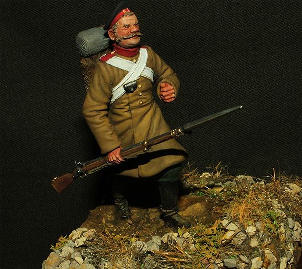 Figures: Russian grenadier, mid XIX cent.