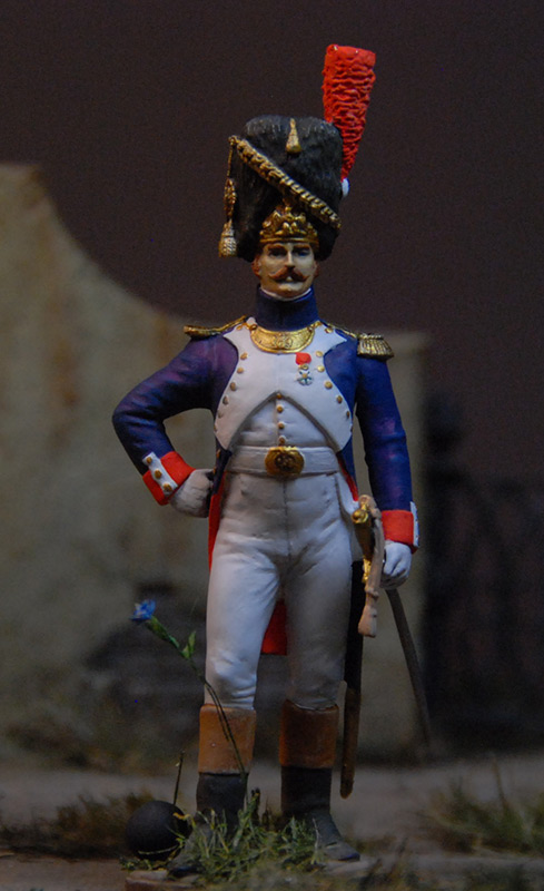 Figures: French officer, Guard foot grenadiers, 1809, photo #1