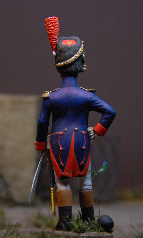 Figures: French officer, Guard foot grenadiers, 1809, photo #3