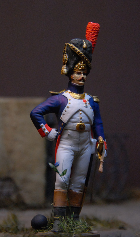 Figures: French officer, Guard foot grenadiers, 1809, photo #4