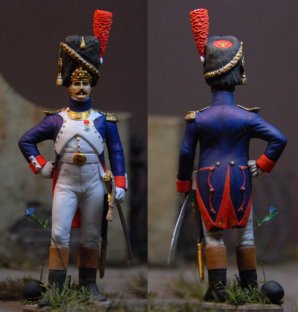 Figures: French officer, Guard foot grenadiers, 1809