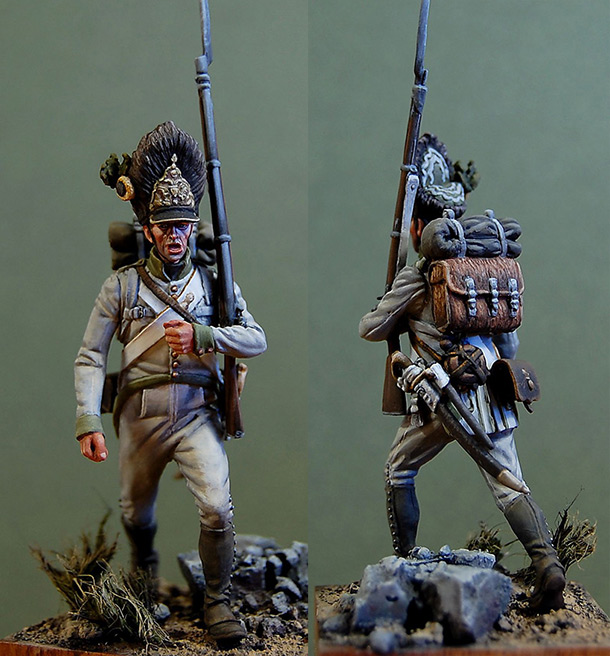 Figures: Grenadier of 9th regt., Austria, 1812