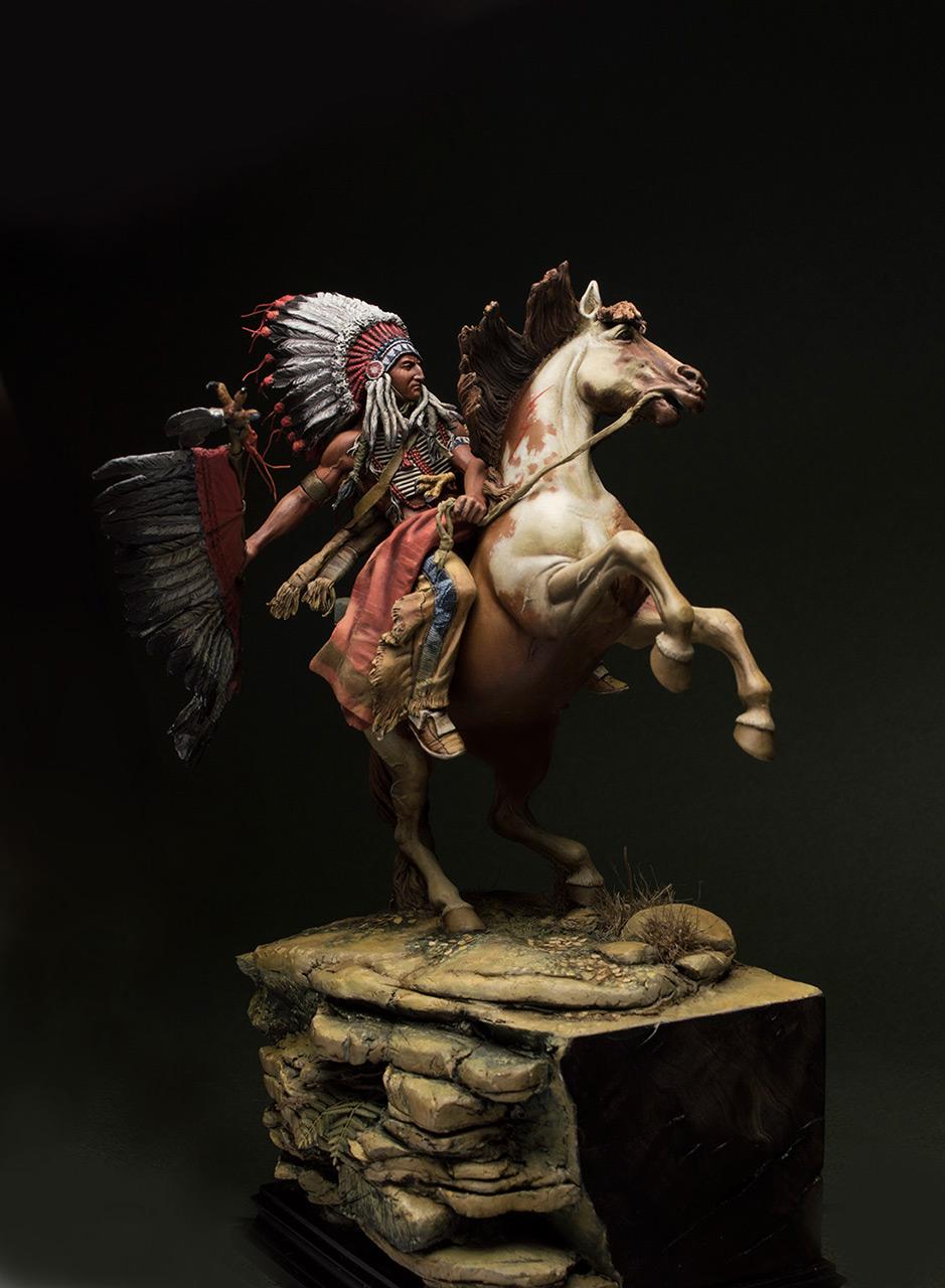 Figures: Lacota warrior, photo #2