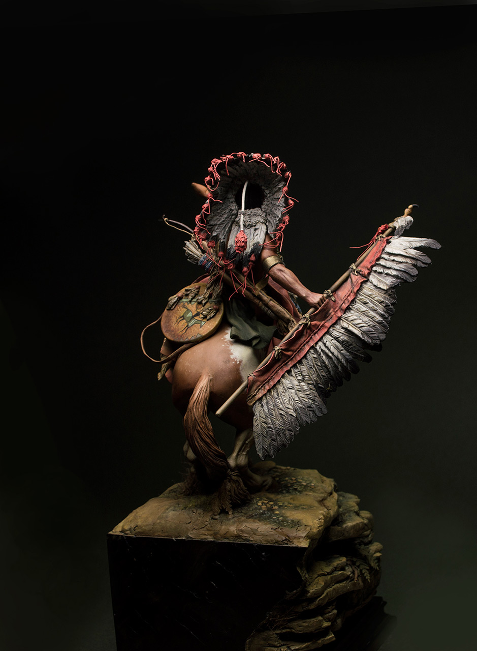 Figures: Lacota warrior, photo #4