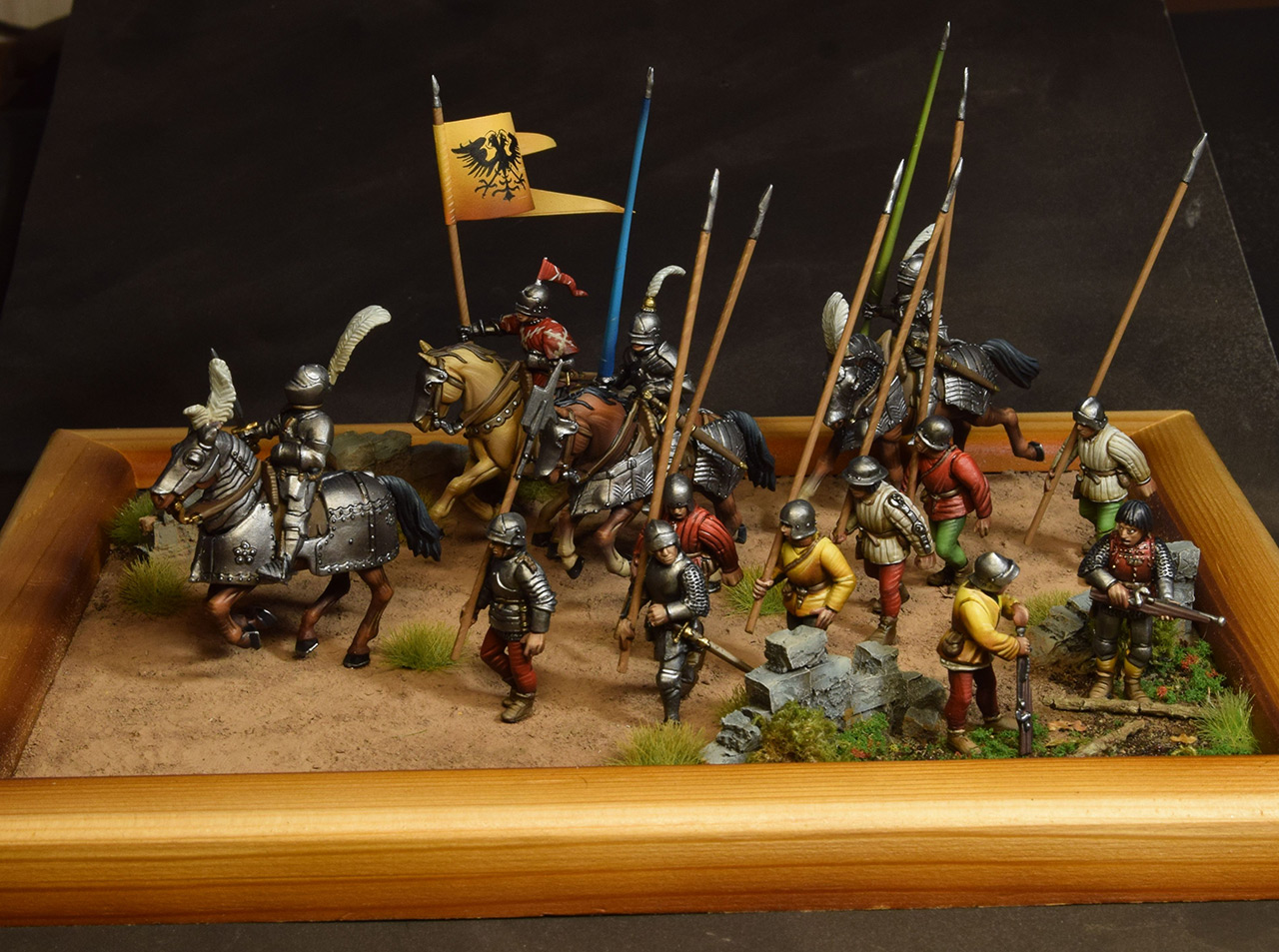Dioramas and Vignettes: Medieval soldiers at march, photo #1