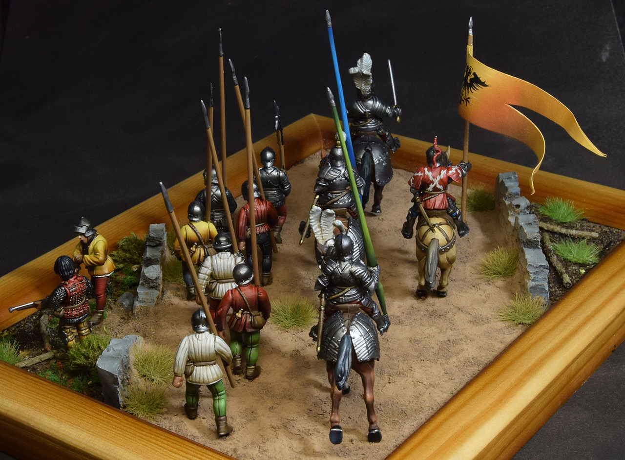Dioramas and Vignettes: Medieval soldiers at march, photo #2