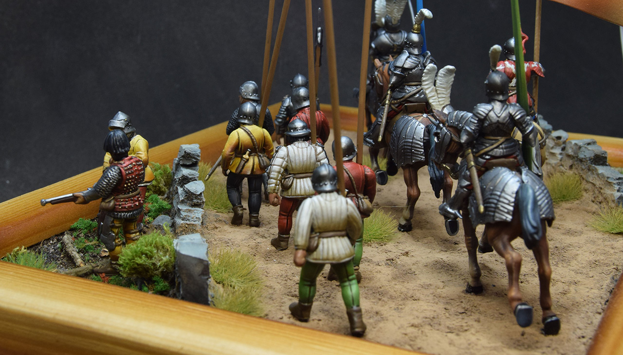 Dioramas and Vignettes: Medieval soldiers at march, photo #4